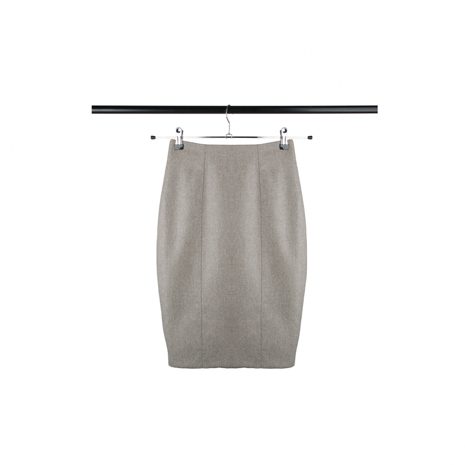 High waist business skirt EMMA beige gray