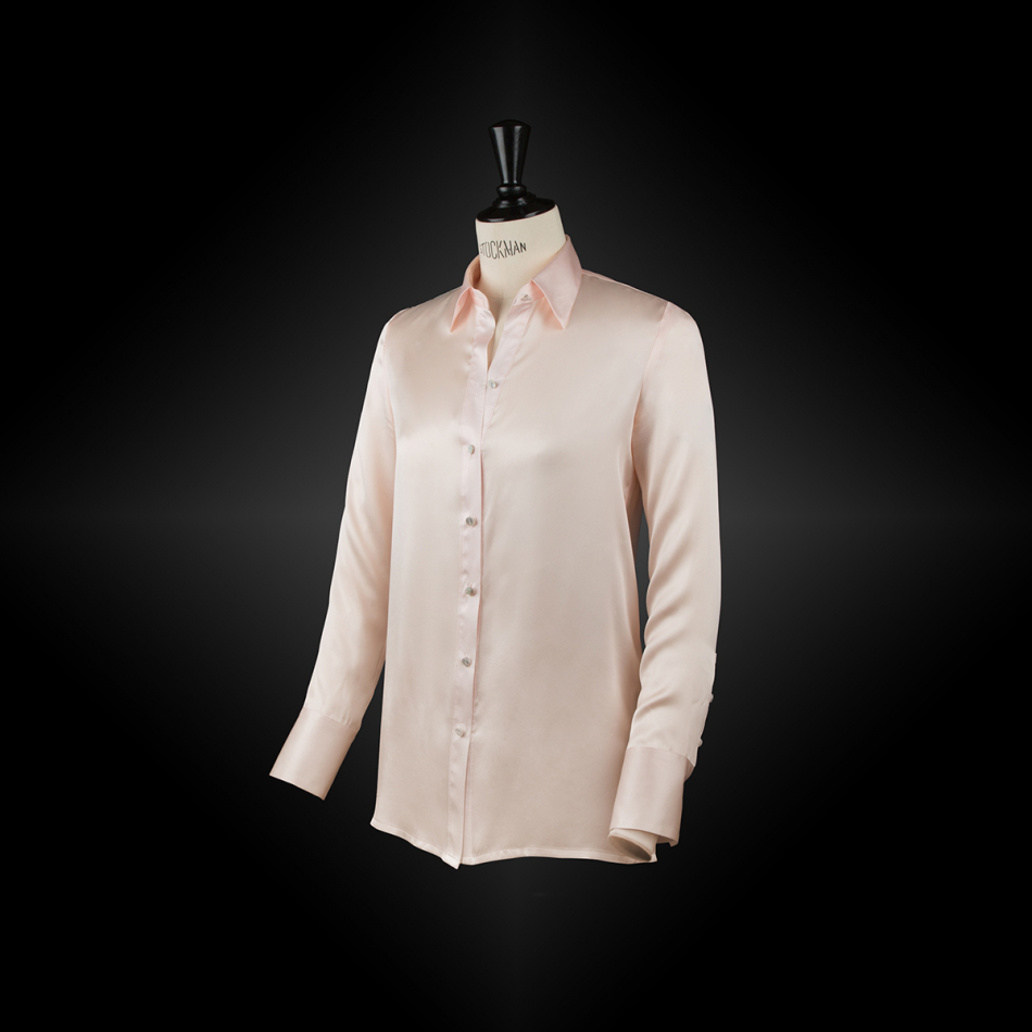 Powder pink workwear shirt SACHA