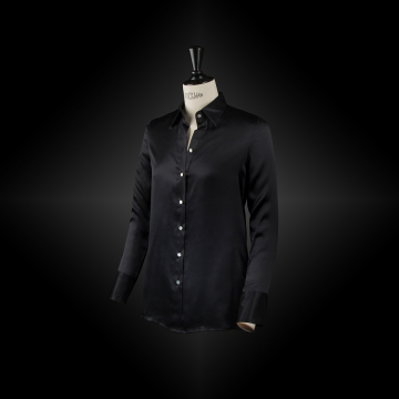 Carbon black workwear shirt SACHA